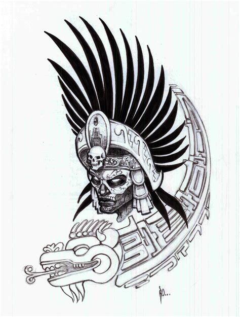 Aztec Warrior By Ralfelor On Deviantart Aztec Warrior Tattoos Drawings
