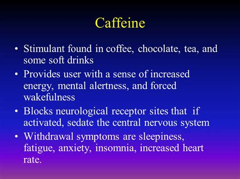 Caffeine Detox Symptoms How by Psychoactive Drugs Ppt