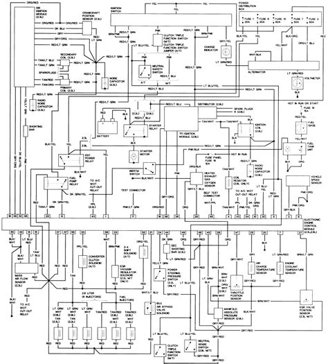 starting system wiring diagram for 1997 ford ranger