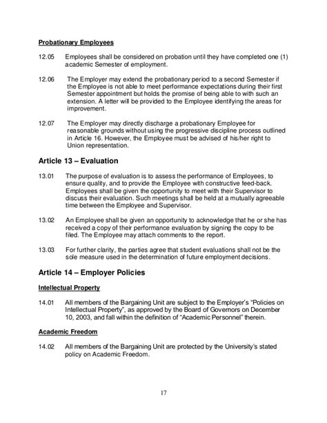 Contract Period Letter Tara Collective Agreement 2013 2016