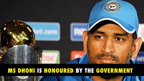 Padma Bhushan Also Search For Official Ms Dhoni Is To Be Awarded With Padma Bhushan Award Swagcricket