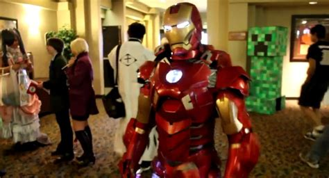 iron man cosplayer nerd reactor