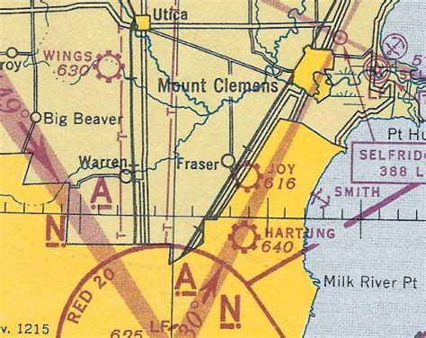 detroit sectional chart abandoned little known airfields michigan northeast
