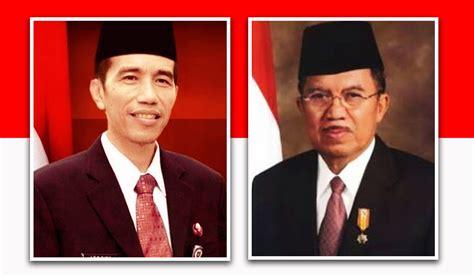 biodata presiden jokowi dan jusuf kalla gambar presiden ke 7 republik indonesia sejarah negara com