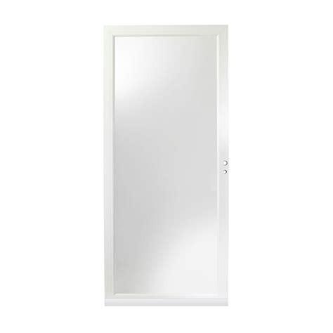 door 3000 series with low e glass andersen 34 in x 80 in 3000 series white left self
