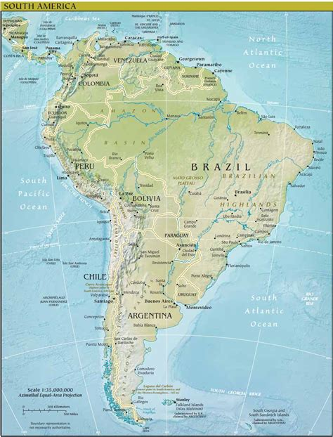 america map facts facts about south america map