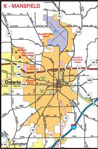 mansfield map pages 2011 2014 ohio transportation map archive
