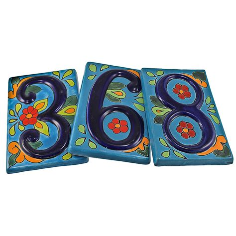 Blue Kitchen Canisters talavera house numbers house numbers blue talavera thn04
