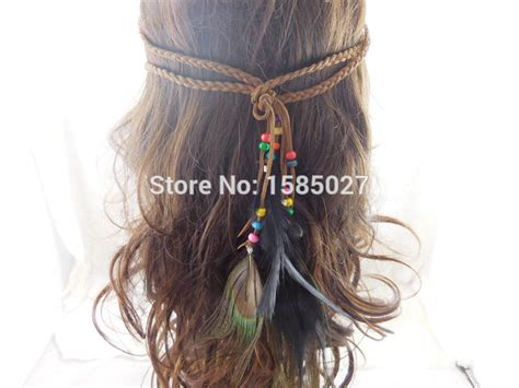 Indian Headbands Peacock Feather Hair Accessories popular american indian headwear buy cheap american indian