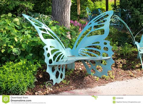 metal butterfly bench butterfly bench stock photo image of expression beauty
