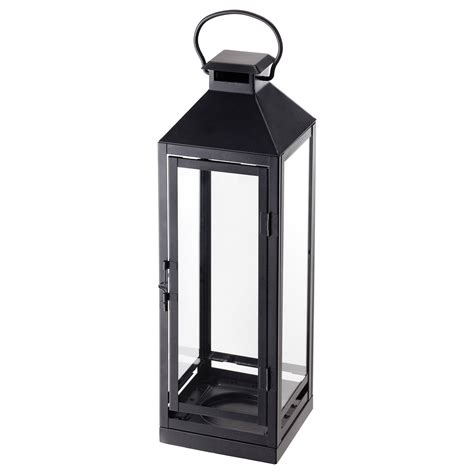 lantern ikea lagrad lantern f block candle in outdoor black 43 cm ikea