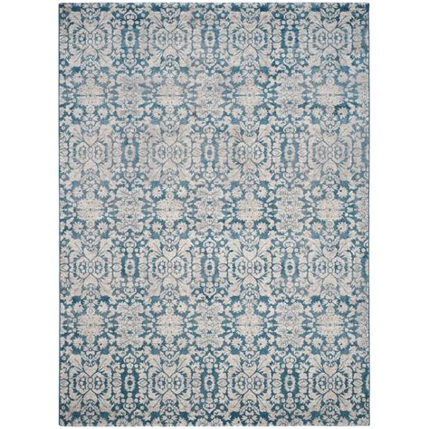 Area Rugs Blue And Beige Safavieh Sofia Blue Beige 9 Ft X 12 Ft Area Rug Sof381c 9 The Home Depot