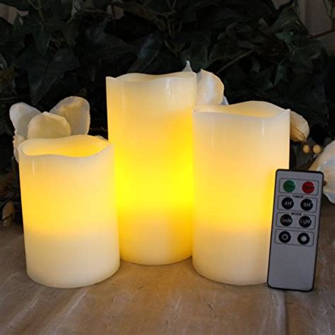 Look That Candles On by Flameless Candles By Led Lytes Set Of 3 Ivory Wax With