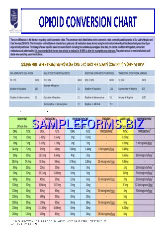 opioid conversion table pdf opioid conversion chart pdf photo opioid conversion