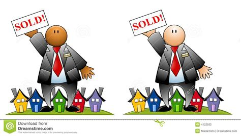 real estate houses sold real estate agent with sold sign and houses stock photography image 4122932