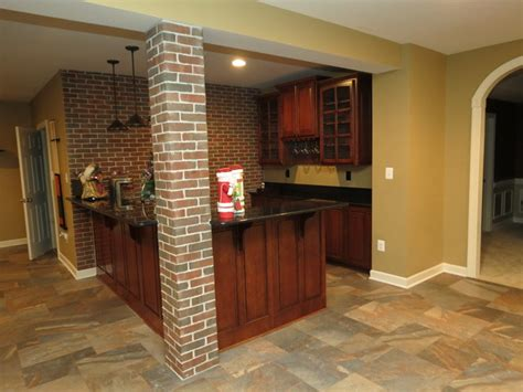 ceramic tile in basement basement remodel with new bar and ceramic tile floor