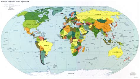 large detailed political map   world  capitals