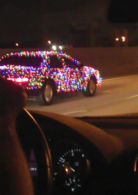 christmas light cars and trucks improvised life