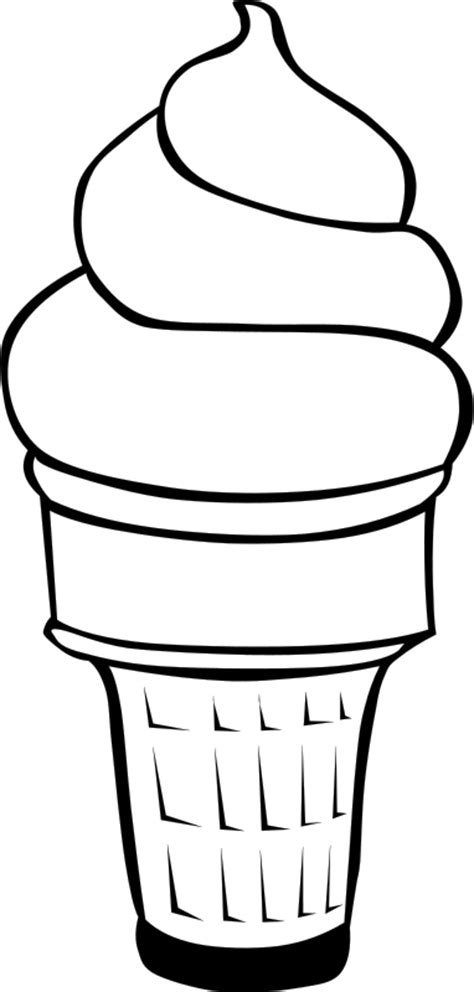 preschool ice cream coloring pages ice cream cone coloring page clipart best
