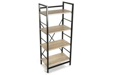 etagere 50 x 100 etag 232 re noir m 233 tal et bois 11 5 x 50 x 120 cm dina
