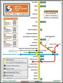 Septa Subway Map by Septa Broad Street Line Stations