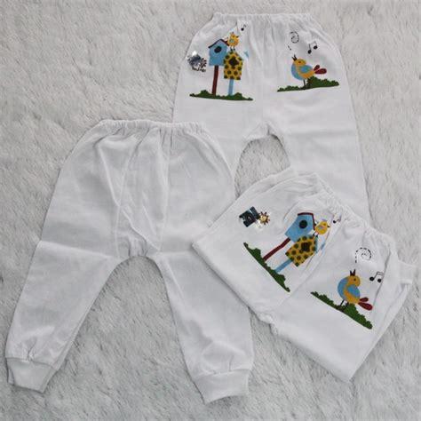 Celana Pendek Bayi Basic 1 lusin model celana panjang warna putih cpjp1 grosir