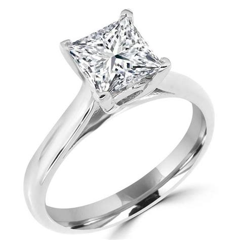 square rings in 14k white gold 1 1 10 ct solitaire