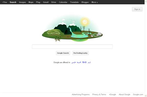 themes for google search engine google doodle earth day observed on april 22 as a google