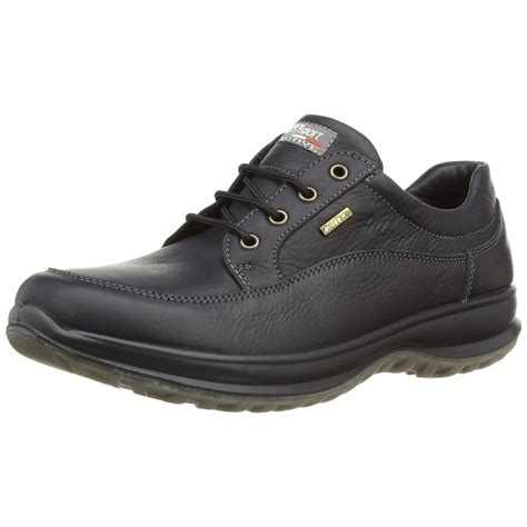 livingston black leather water resistant shoe