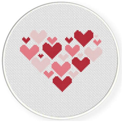 heart pattern for cross stitch charts club members only hearts on heart cross stitch