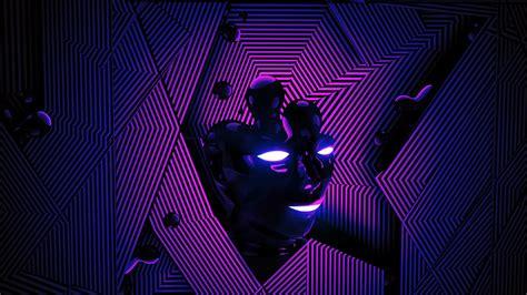 purple man abstract 4k wallpaper free 4k wallpaper