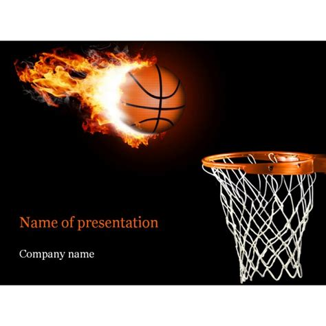 basketball powerpoint template background for presentation