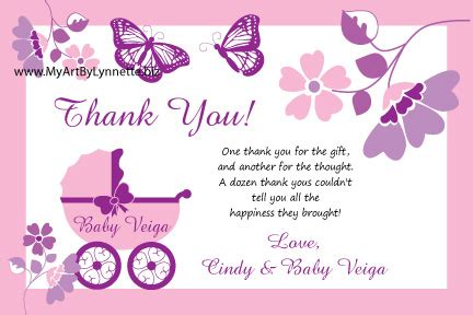 Baby Shower Thank You Quotes by Lynnetteart Monarch Butterfly Buggy Baby Shower Invitation
