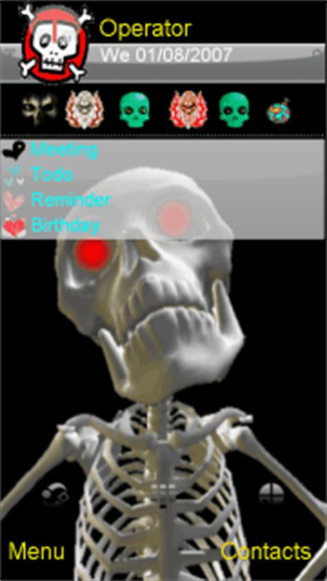 sfondi animati del 17 apr 2011 in sfondi hd formato 16 9 sfondi per tema animato scheletro per nokia 5800 5230 n8 n97 il