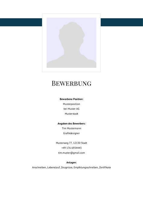 Lebenslauf Muster Mit Deckblatt Bewerbung Deckblatt Muster Vorlage 5 Lebenslauf Designs