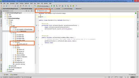 android studio layout resource file lesson project structure in android studio java and