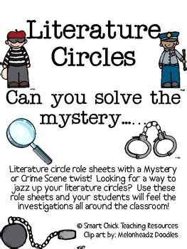 theme literature circle literature circles packet can you solve the mystery