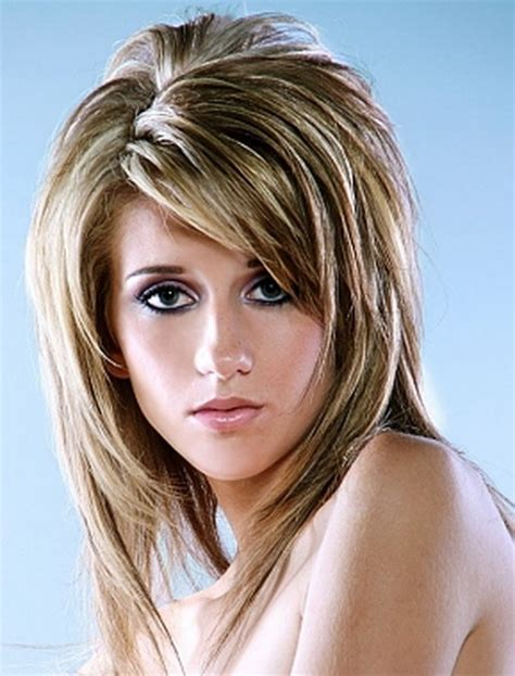 womens medium length layered razor cut hairstyle razored layered haircuts