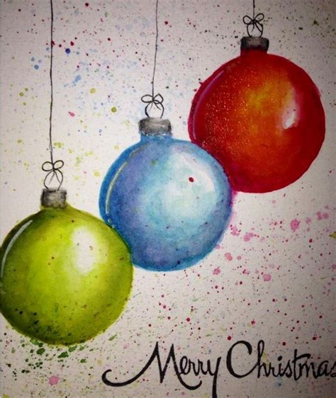 watercolors ornaments and watercolor christmas on pinterest