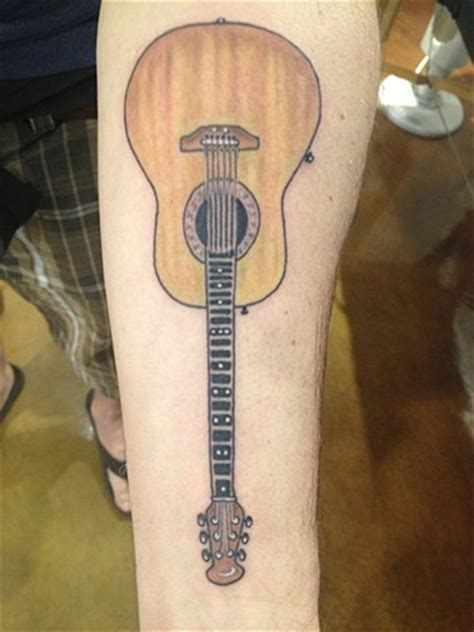 acoustic guitar tattoo coastline provincetown cape cod custom