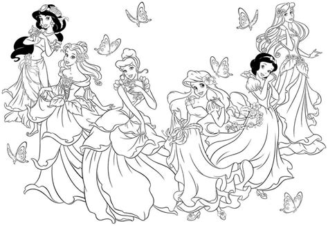 Princess Coloring Pages Coloring Home All Disney Princesses Together Coloring Pages