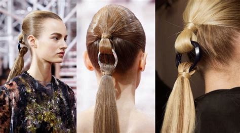 hairshow guide for hair styles dior ponytail futuriste creajshion