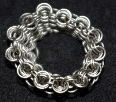 Handmade Chainmail - handmade jewelry titanium chain mail ring
