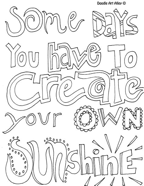 Positive Quotes Coloring Pages Quotesgram Printable Quote Coloring Pages