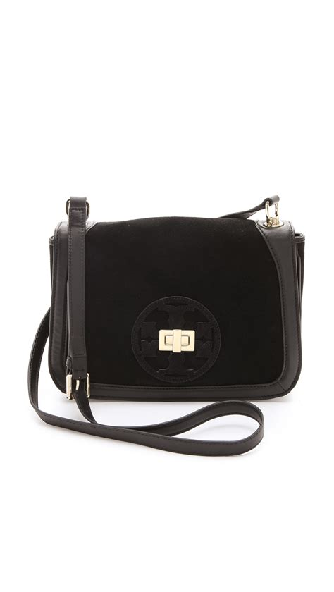 Burch Tote Vs Steve Madden Bag by Burch Gloria Suede Cross Bag In Black Lyst