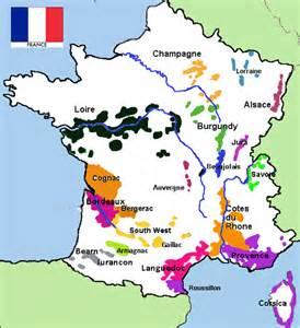 France Wine Map by French Wine Cellar Door2door