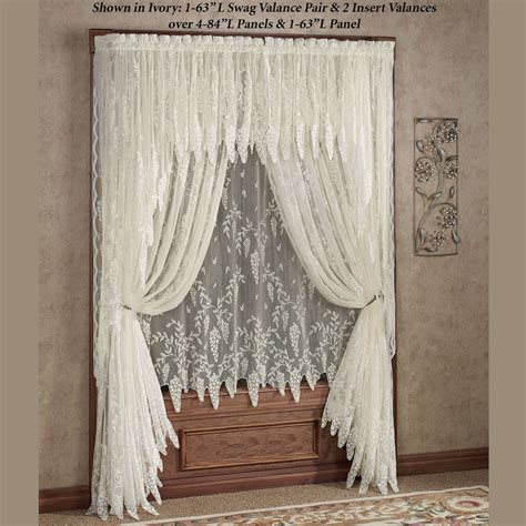 Window Curtain Panel Decorating Wisteria Arbor Lace Window Treatments