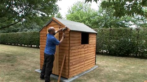 fix  felt roof   garden shed youtube