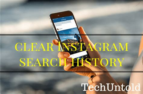 Instagram Search Suggested How To Clear Instagram Search History Particular As Well As Entire