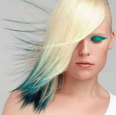 parrot hairstyle blond bird hairstyle with green blue and black very cool